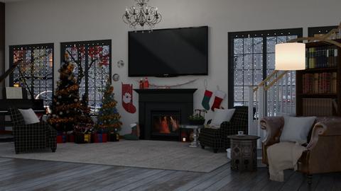Christmas at Grandmas - Living room  - by Myahlevy