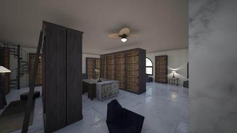 Monochrome Library - Minimal - Office  - by KajsaRain