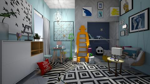 kids bunk bed room - by i123qwerty