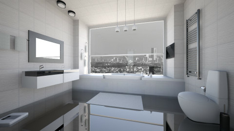 Black and White bathroom - Modern - Bathroom  - by LoukArt