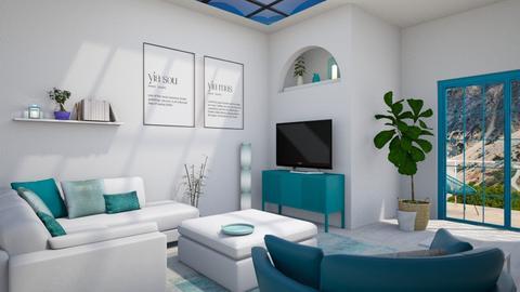 Greek living room - Living room  - by ginamelia22