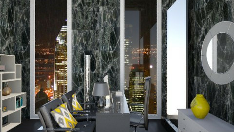 Black and yellow office - Modern - Office  - by Jade w