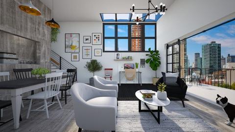 Galpao - Living room  - by diegobbf