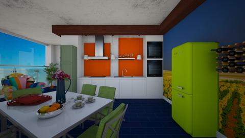 Modern Playful Kitchen - Modern - Kitchen - by Tupiniquim