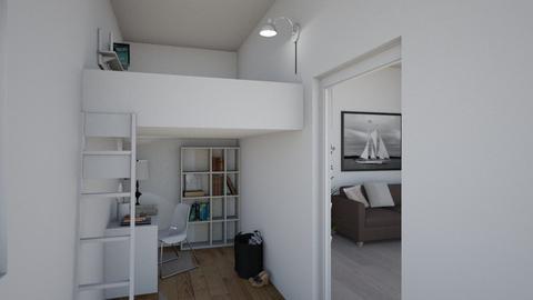 Minimalistic Dorm - Bedroom - by Natalie T