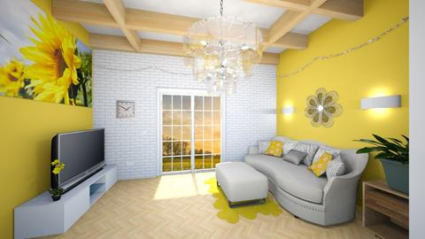 Sunflower Living - Living room  - by JoJo Y