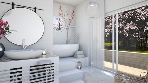 Cherry Blossom Bathroom  - Bathroom  - by Carl Grimes