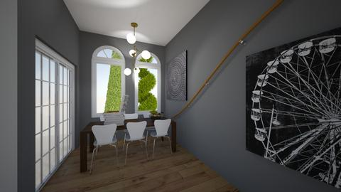 Curved Lines Dining Room - by CamKreider