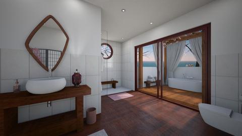 Cherry Blossom Bathroom - Bathroom  - by Nan92