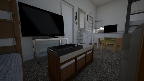 CollegeRoom_freshmen pt3 - Bedroom  - by akishi