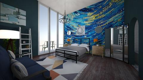 Starry Night Apartment - Bedroom - by neverlanddesigns