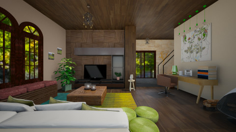 Earth Tones - Rustic - Living room  - by FranChi