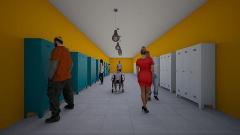 school hallway - by designgirl22