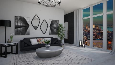 Black - Living room - by ivana_lol