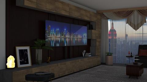 tv room - Living room  - by nat mi