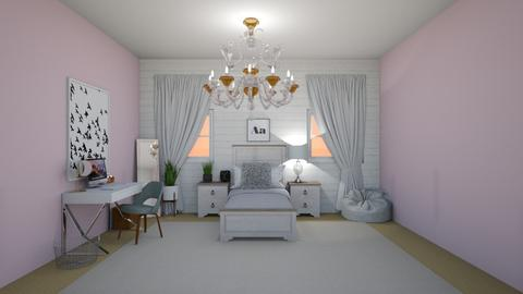 a pop of color  - Vintage - Kids room  - by Zaria UwU
