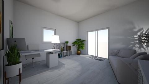 fresh white home office - by ange06