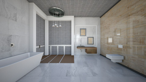 Neutral Tones Bath - Bathroom  - by deleted_1513655778_Valencey14