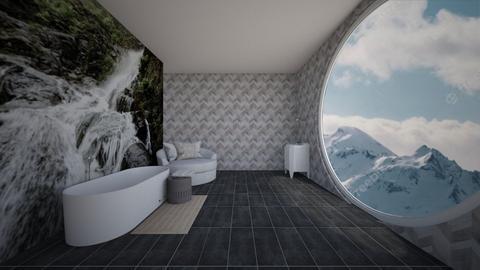 water fall bath - Bathroom  - by taebay1 OSG