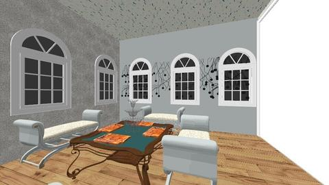 modern rome triclinium    - Dining room - by moderngirl12