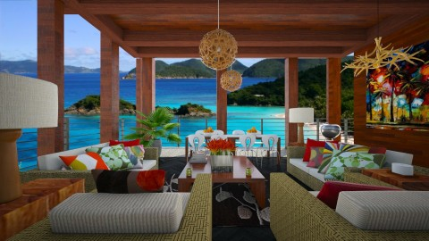 Gone Tropo Resort living - Eclectic - Living room  - by Designer V