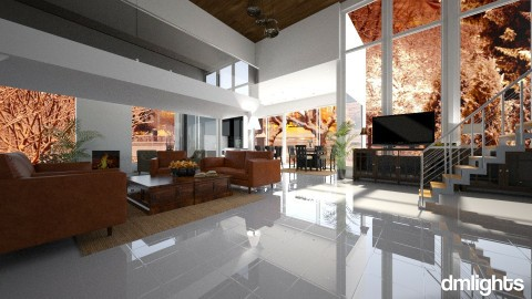Big living room - Modern - Living room - by DMLights-user-1466046