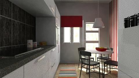 woonkamer kitchen - Modern - Kitchen  - by Thrud45
