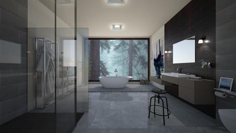 Bathroom forest - Modern - Bathroom  - by kristenaK