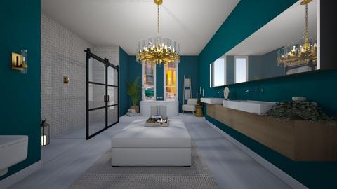 Turquoise et Metal  - Bathroom - by xlaurensinteriors