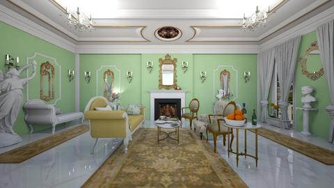 Green Rococo - Classic - Living room  - by Sophia Cooper