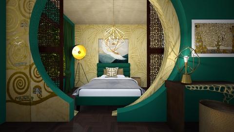 AN bedroom Gustav Klimt style - by Esko123