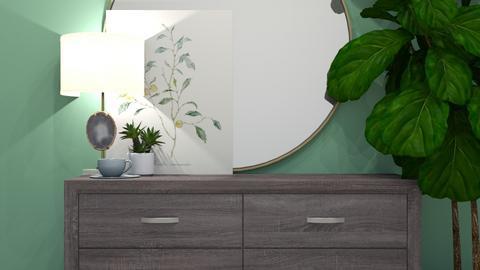 Modern Green Room - Bedroom  - by MilksDaBunz