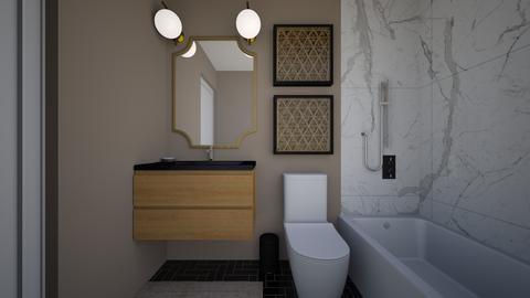 Karen Fleshman - Bathroom  - by bdwilliams