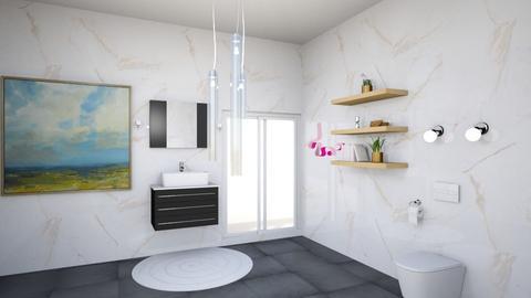 Arty Toilet Room - Modern - Bathroom  - by Charginghawks