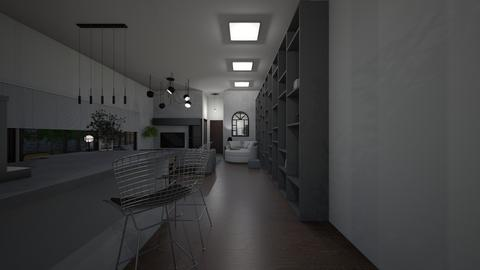 Living area_night lights - Living room  - by lovasemoke
