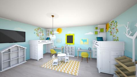 twinsroombrightremix - Kids room  - by tahliawaters