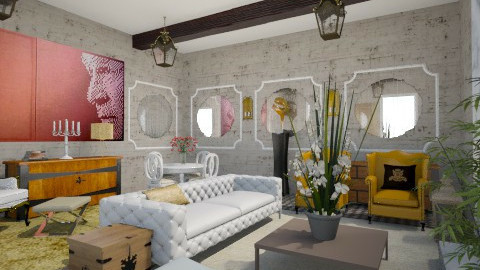 Spanish Glamour - Glamour - Living room  - by mide93