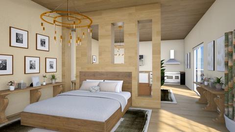 Studio Apartment - Rustic - Bedroom  - by millerfam