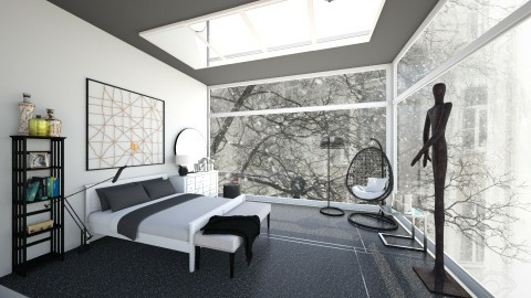 Dark bedroom - by Syrine Ben Maktouf
