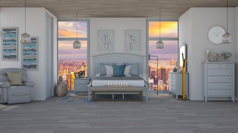 Blue Grey - Feminine - Bedroom  - by Boo Boo Boo