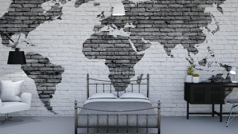 Black and White Bedroom - Modern - Bedroom  - by Aristar_bucks