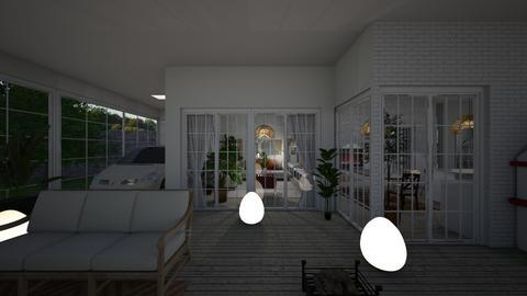 Eclectic_terrace3 - Garden  - by lovasemoke