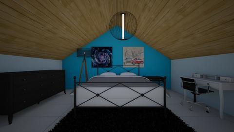 blue bedroom - Bedroom  - by Meghan White
