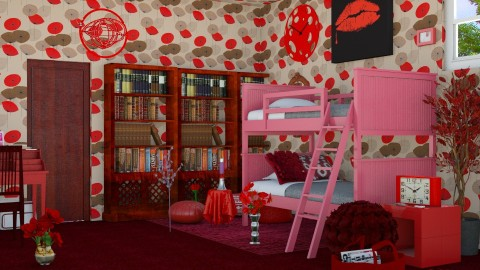 Red Passion - Modern - Bedroom  - by InteriorDesigner111