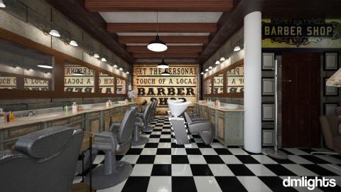 barber basement shop - Vintage - by DMLights-user-982918