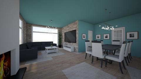 blue - Living room - by jovhke