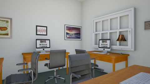 Business Center 2 - Rustic - Office  - by clevejohnson