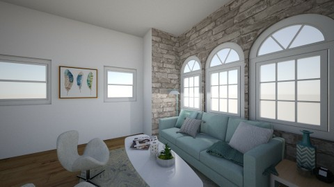 A whisp of blue - Modern - Living room - by mackenzietyson
