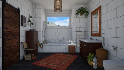 Bohemian bathroom - Eclectic - Bathroom  - by martinabb