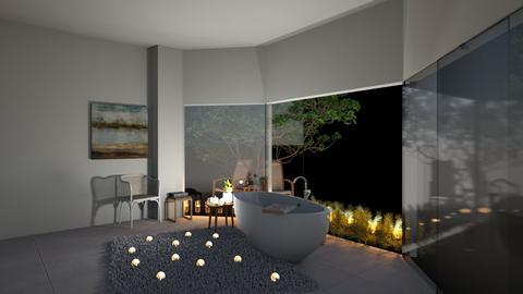 glass bathroom  - Bathroom  - by pyntie